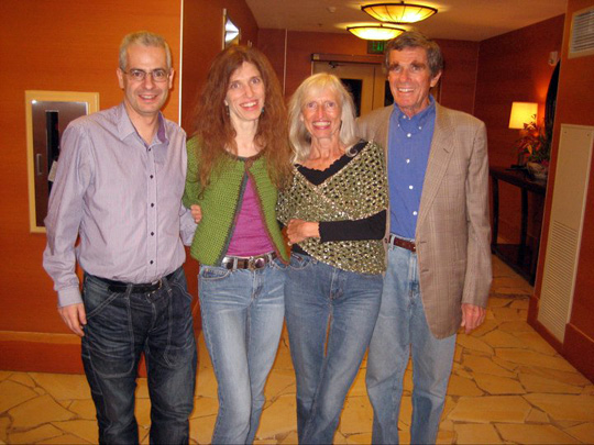 Nick and Elizabeth with her parents, Gisela and David Weiss. (image credit: Nick Pope)