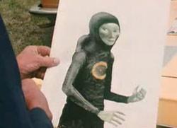 A drawing of Wolski's alien