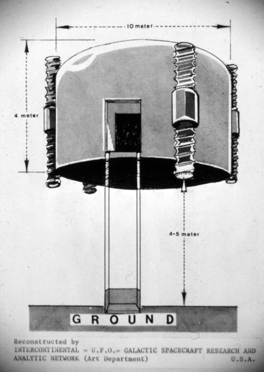 The craft Wolski saw with dimensions (image credit: ICUFON archives)