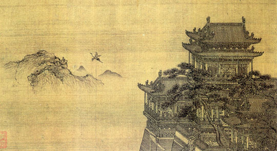 Huanghe Lou painted by Xia Yong during the Yuan dynasty. (Image Credit: Yunnan Provincial Museum)