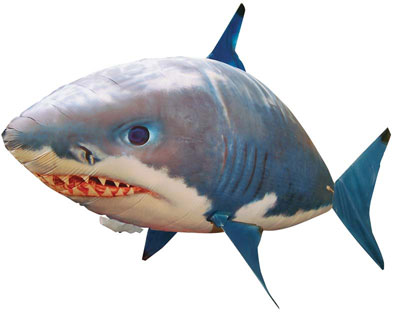 Helium-filled, remote-controlled shark toy. (Credit: William Mark Corporation)