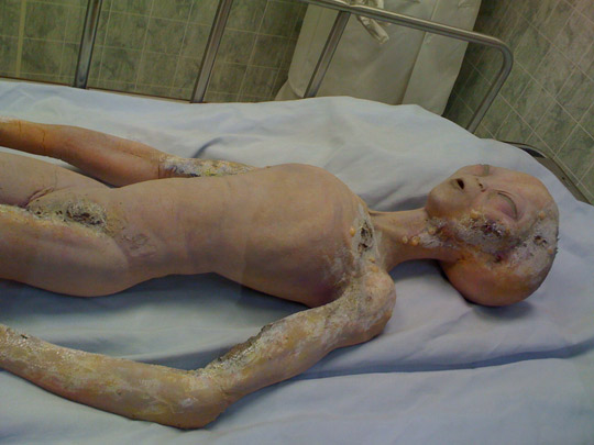 An alien on exhibit at the Roswell Museum.