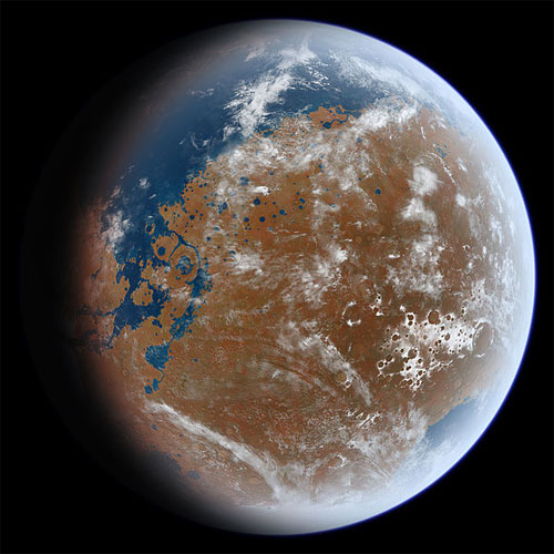 What ancient Mars may have looked like. (Credit: Ittiz/Wikimedia Commons)