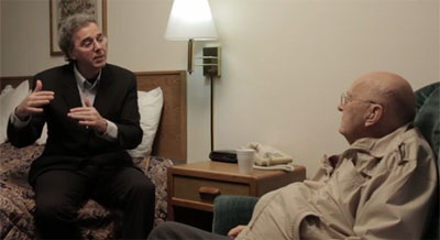 Richard Dolan interviewing 'Anonymous.' (Credit: Truth Embargo)