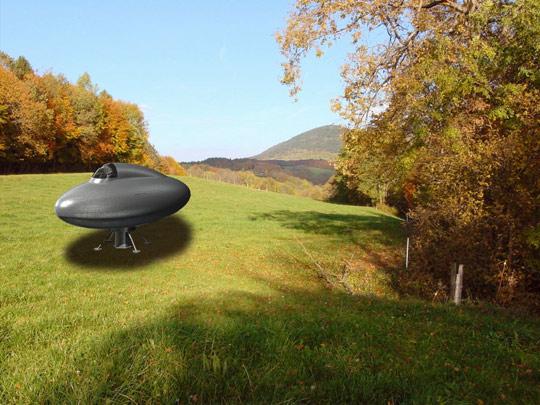 Beetle shaped UFO