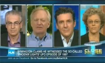 UFO panel on the Joy Behar show (credit: HLN)