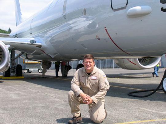 Test pilot Doug Benjamin (image credit: USAF)