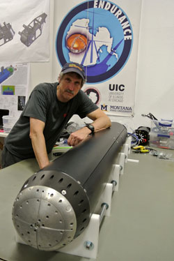 Dr. Bill Stone with VALKYRIE. (Credit: Stone Aerospace)