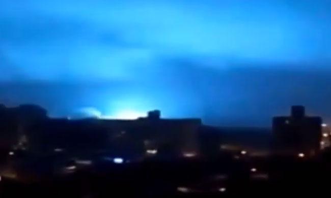 Multi-colored explosion seen in Brazil.