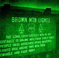 Brown Mountain Lights marker
