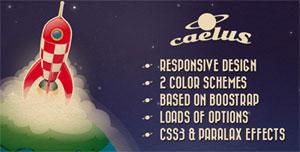 The Caelus website template. (Credit: themeforest.net/oxygenna)