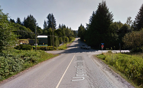 The reporting witness came forward after 39 years to recall an odd encounter at the intersection of Sumas Mt. Road and Dawson Road, pictured. (Credit: Google)