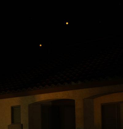sky lanterns in flight. (Credit: Jason McClellan)