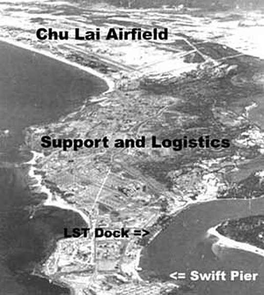 View of the U.S. Marine Short Airfield for Tactical Support (SATS) at Chu Lai, Vietnam, in 1965. Image credit: U.S. Navy National Museum of Naval Aviation