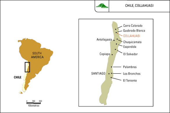 Location of the Collahuasi copper mine. (Credit: mining-technology.com)