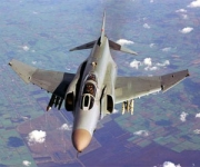 """An F-4 """"Phantom"""" fighter jet. Two of these were thoroughly outclassed by a UFO over Tehran in September, 1976."""