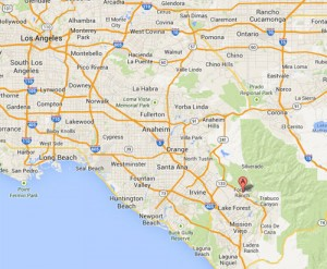 The neighborhood of Foothill Ranch in Lake Forest, CA. (Credit: Google)