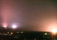 Eerie light show in Fort Worth (credit: Brian Luenser)