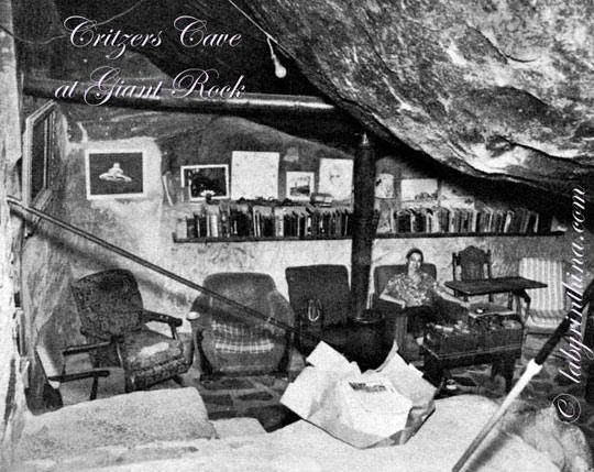 Critzer's room under the Giant Rock. (image credit: labyrinthina.com)