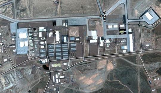 Recent Google maps image of Area 51.