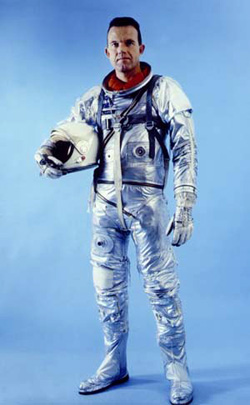 Gordon Cooper in his space suit. (image credit: NASA)
