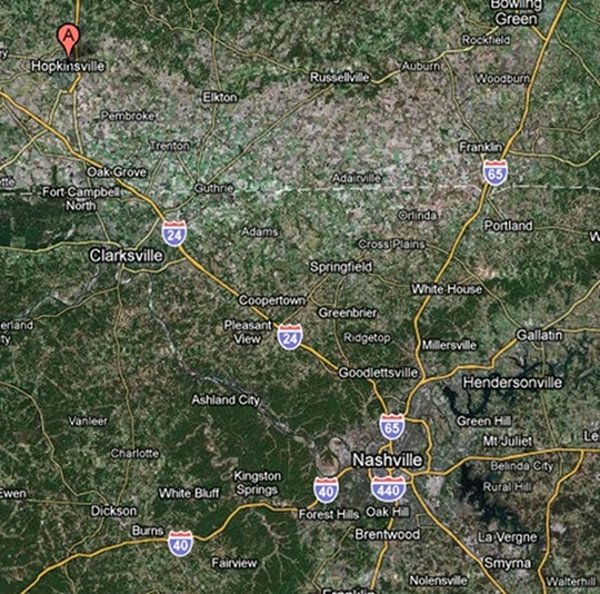 Hopkinsville Map