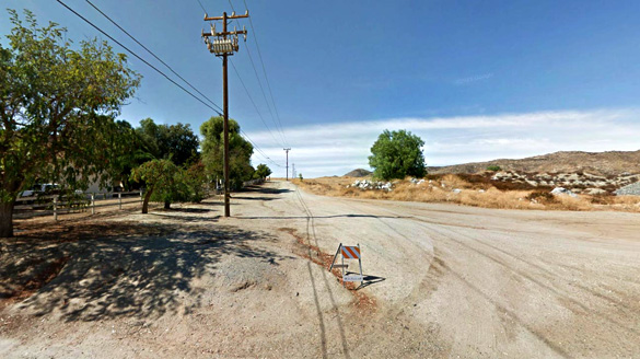The witness first stepped outside on October 1, 2015, when boom sounds were heard. Pictured: Winchester, CA. (Credit: Google)