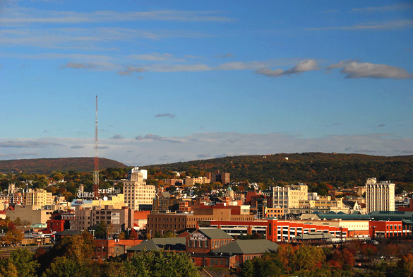 Skyline view of downtown Scranton, Pennsylvania. (Credit: Wikimedia Commons)