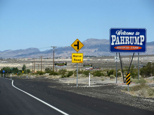 The witness noticed a dark object hovering in the sky and began videotaping on July 12, 2014. Pictured: Pahrump, Nevada. (Credit: Wikimedia Commons)