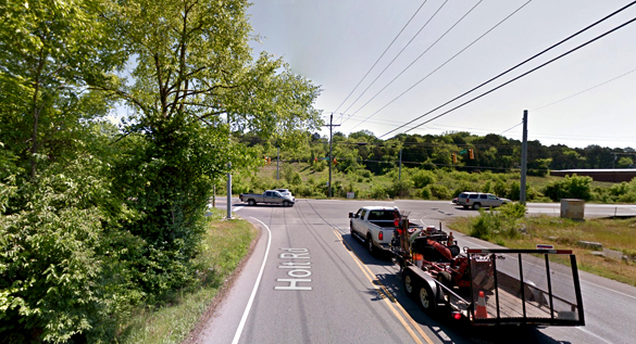 The witness was turning off Holt Road onto Nolensville Road, pictured, when the object was seen hovering over a nearby quarry. (Credit: Google)