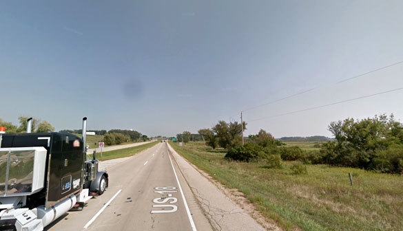 The witness first noticed a hovering black object 500 feet off of the ground about 5:44 a.m. on February 11, 2016. Pictured: Verona, WI. (Credit: Google)