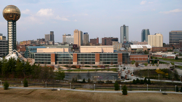 The Knoxville witness described the object as snake-like. Pictured: Knoxville, TN. (Credit: Wikimedia Commons)