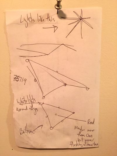 Witness illustration of the object. (Credit: MUFON)