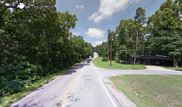 The object was moving slowly 100 feet over the rooftop. Pictured: Bella Vista, AR. (Credit: Google)