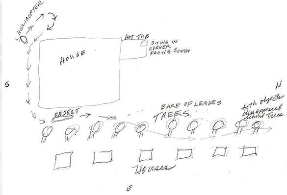 Illustration of the sighting area. (Credit: MUFON)