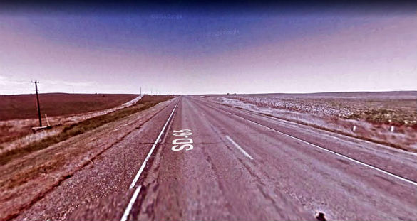 The witness first thought the object might be a plane. Pictured: Highway 65 near Highway 212. (Credit: Google)