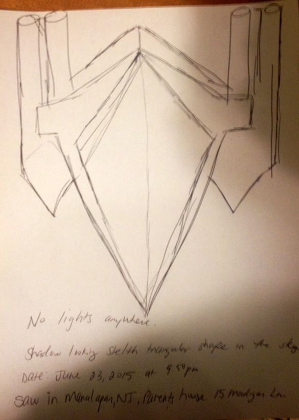 Witness sketch. (Credit: MUFON)