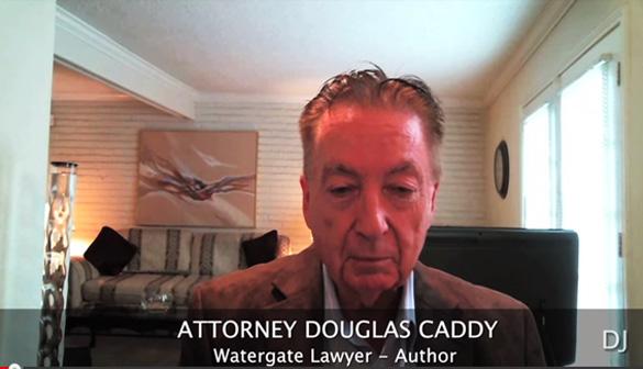 Watergate lawyer and author Douglas Caddy. (Credit: Daniel Liszt, Dark Journalist)
