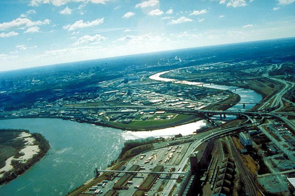 Aerial view of Kansas City, Kansas. (Credit: Wikimedia Commons)
