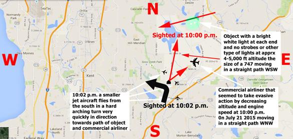 Map of the sighting area. (Credit: MUFON)