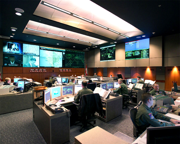 NORAD/USNORTHCOM Alternate Command Center prior to the Cheyenne Mountain Realignment. (Credit: Wikimedia Commons)