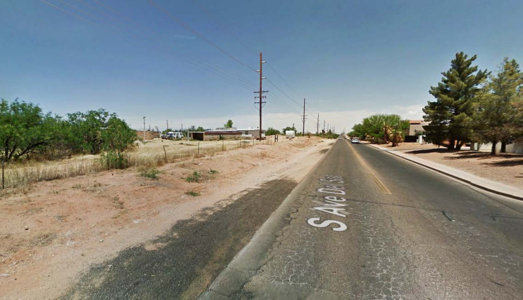 They thought it was odd they had not heard the sounds of something being moved onto the property and that the object appeared to have electricity. Pictured: Sierra Vista, Arizona. (Credit: Google)