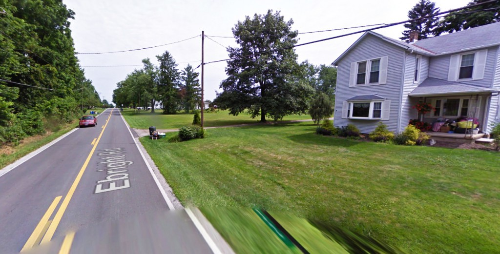 The object hovered at the ground level and was described as a thin jar, but was easily 50 feet tall. Pictured: Canal Winchester, OH. (Credit: Google)