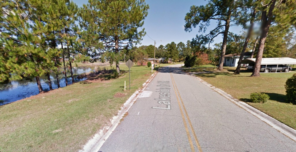 The witness also saw a black helicopter at the time of the UFO sighting. Pictured: Moultrie, GA. (Credit: Google)