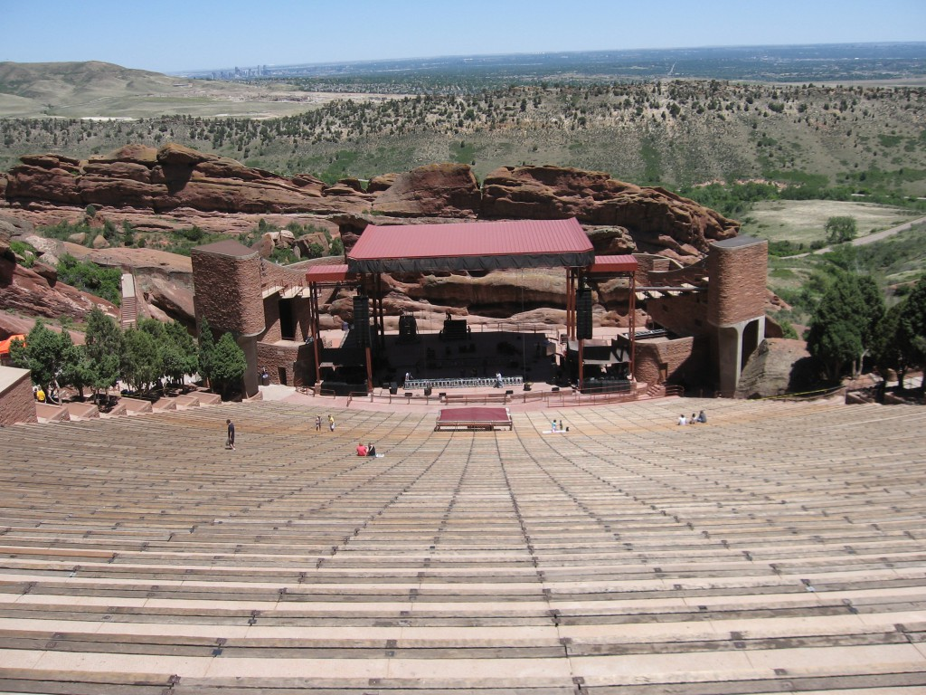 The witness has a military background and could not identify the object. Pictured: Red Rocks Amphitheatre. (Credit: Wikimedia Commons)