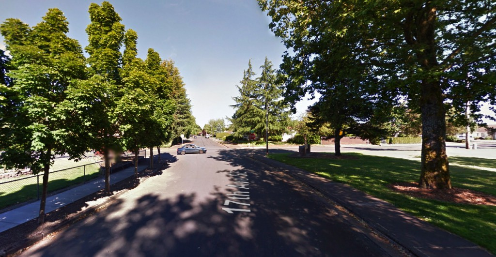 The witness noticed a second, smaller object moving out of the larger object. Pictured: Albany, OR. (Credit: Google)