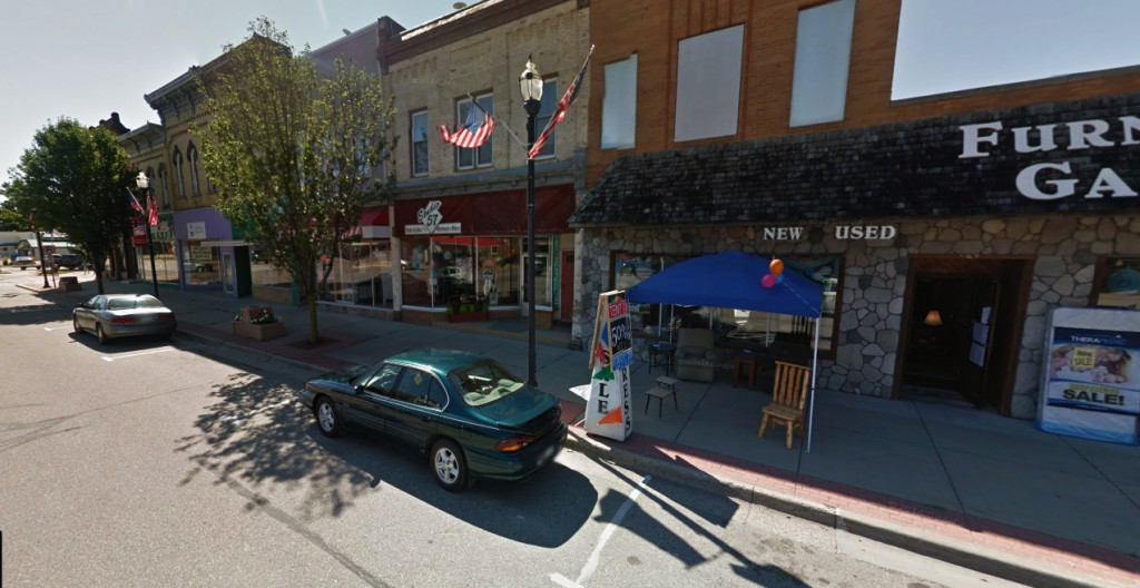 The two witnesses first thought the object on the ground was a remnant from a tornado – until the object moved. Pictured: Carson City, MI. (Credit: Google)