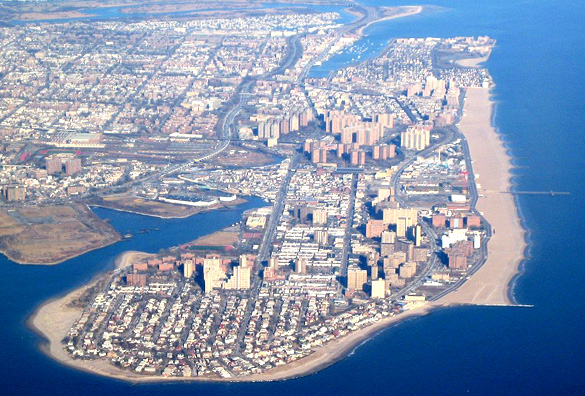 The Coney Island peninsula from the air. (Credit: Wikimedia Commons)