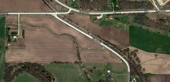 A portion of Douglas Trail straddles 75th Avenue NW in Rochester, MN. (Credit: Google)