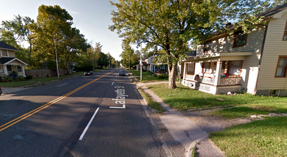 The object was seen hovering over Highway 27 in Fort Wayne, also known as Lafayette Street, pictured. (Credit: Google)